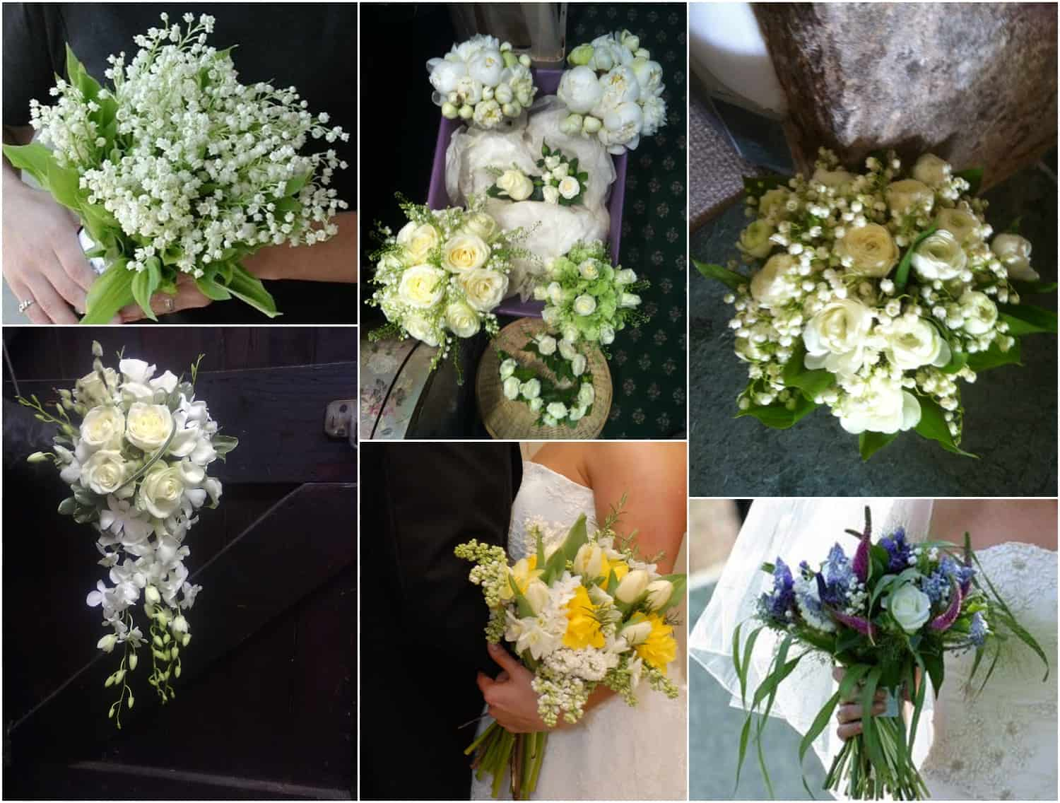 Wedding bouquets with seasonal flowers, by Sarah Pepper