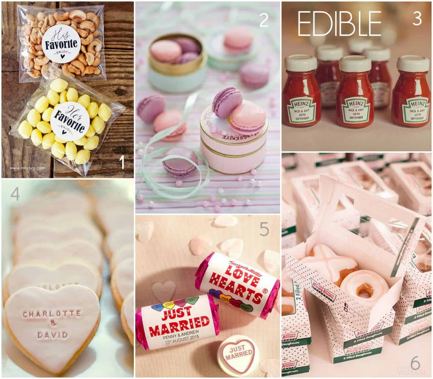 Edible wedding favours, wedding traditions, favours you can eat