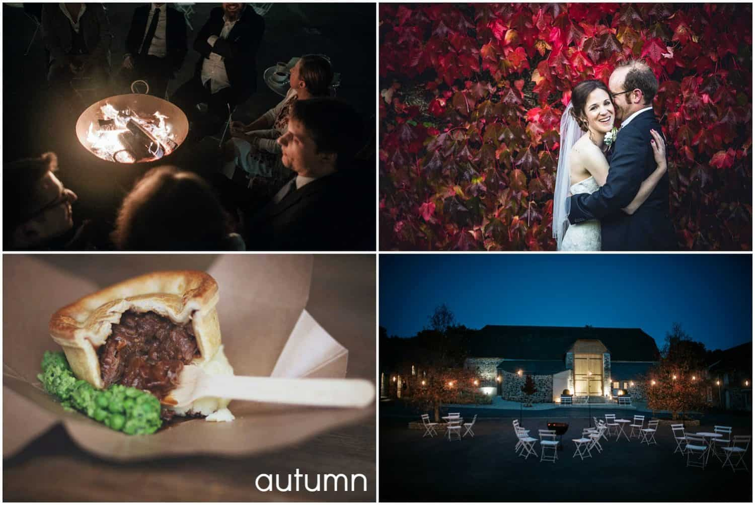 Autumn weddings at The Great Barn Devon