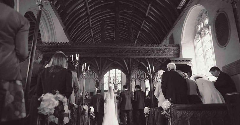 Church Wedding, St John The Baptist, Devon, The Great Barn, Wedding Venue Devon