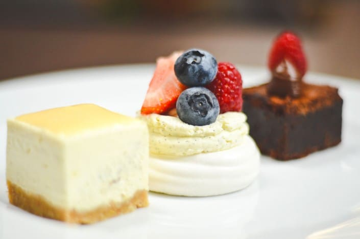 Dessert Trio, Wedding Breakfast, Menus, Wedding Venues Devon, The Great Barn, Dartmoor Kitchen