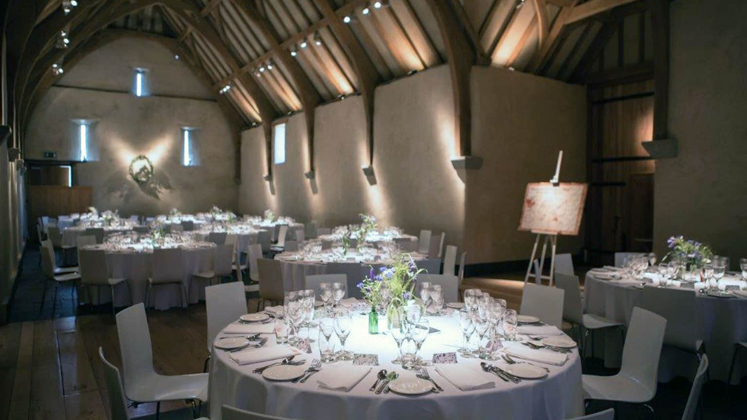 Wedding Breakfast, Great Barn Devon, Wedding Venue Devon