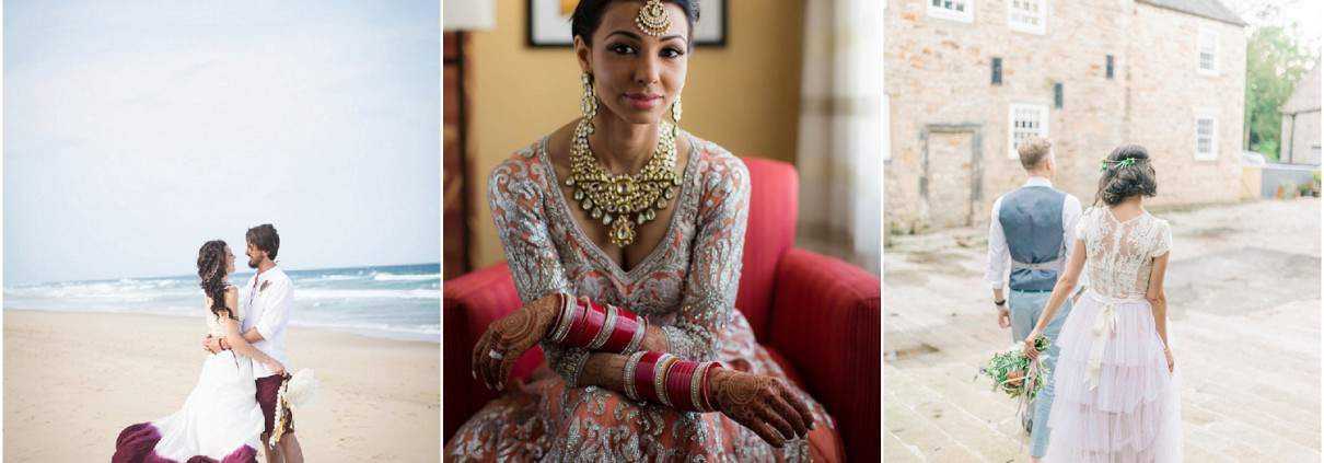 Stunning wedding gowns as featured on Desi Bride Dreams, Love My Dress and Boho Weddings