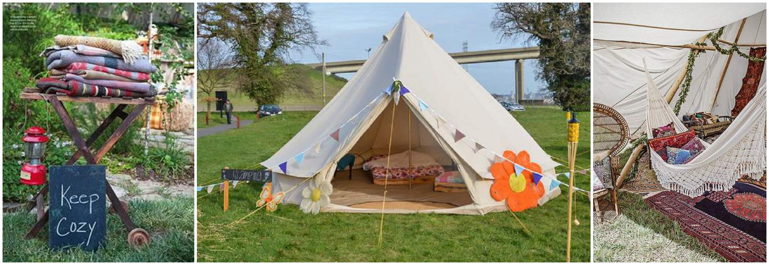 Glamping, guest accommodation, wedding accommodation, camping, barn wedding, devon wedding