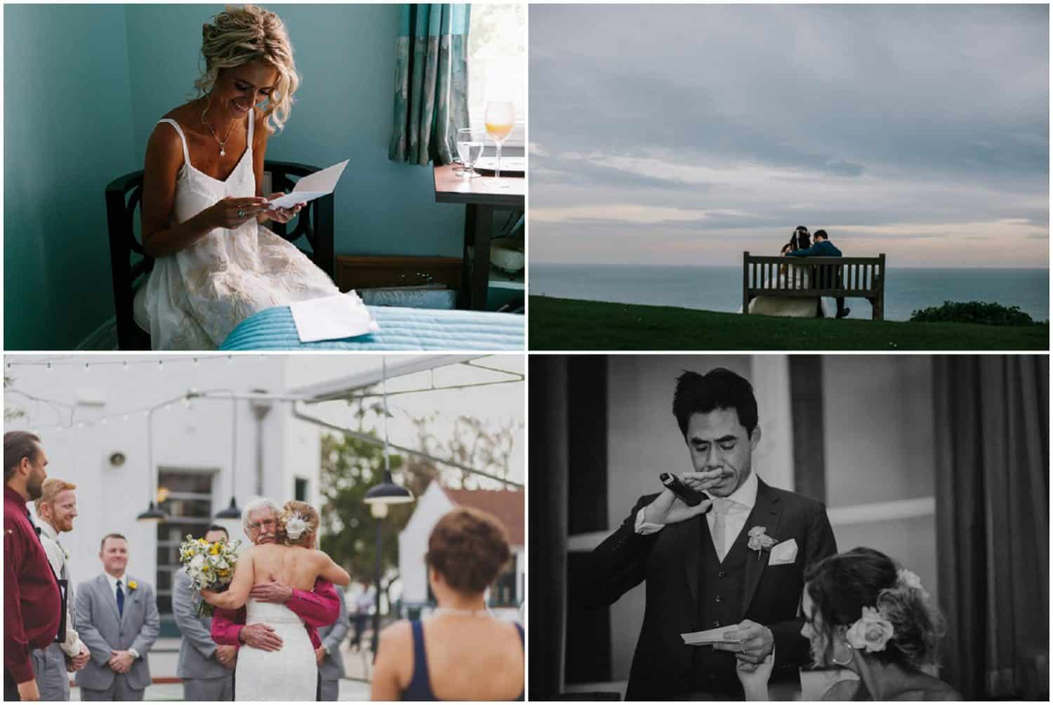 Wedding inspiration - stolen moments, first looks