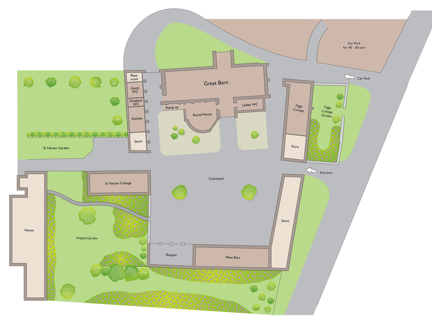 Venue Site Plan, The Great Barn Devon, Conference Venue, Corportae Meeting Venue, Wedding Venue