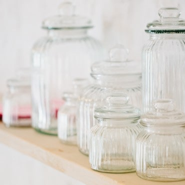 wedding hire event hire sweet jars