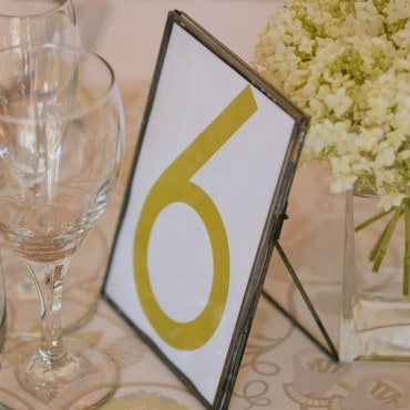 wedding hire event hire table numbers names