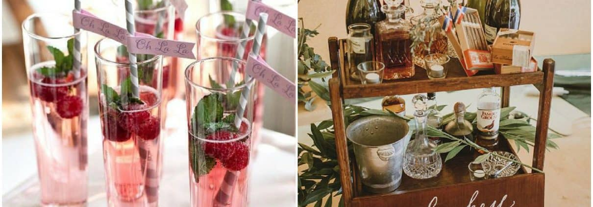 alternative wedding drinks, cocktails, accessories, beers, gin tasting, pimp your prosecco, signature cocktails, favours, winter warmers