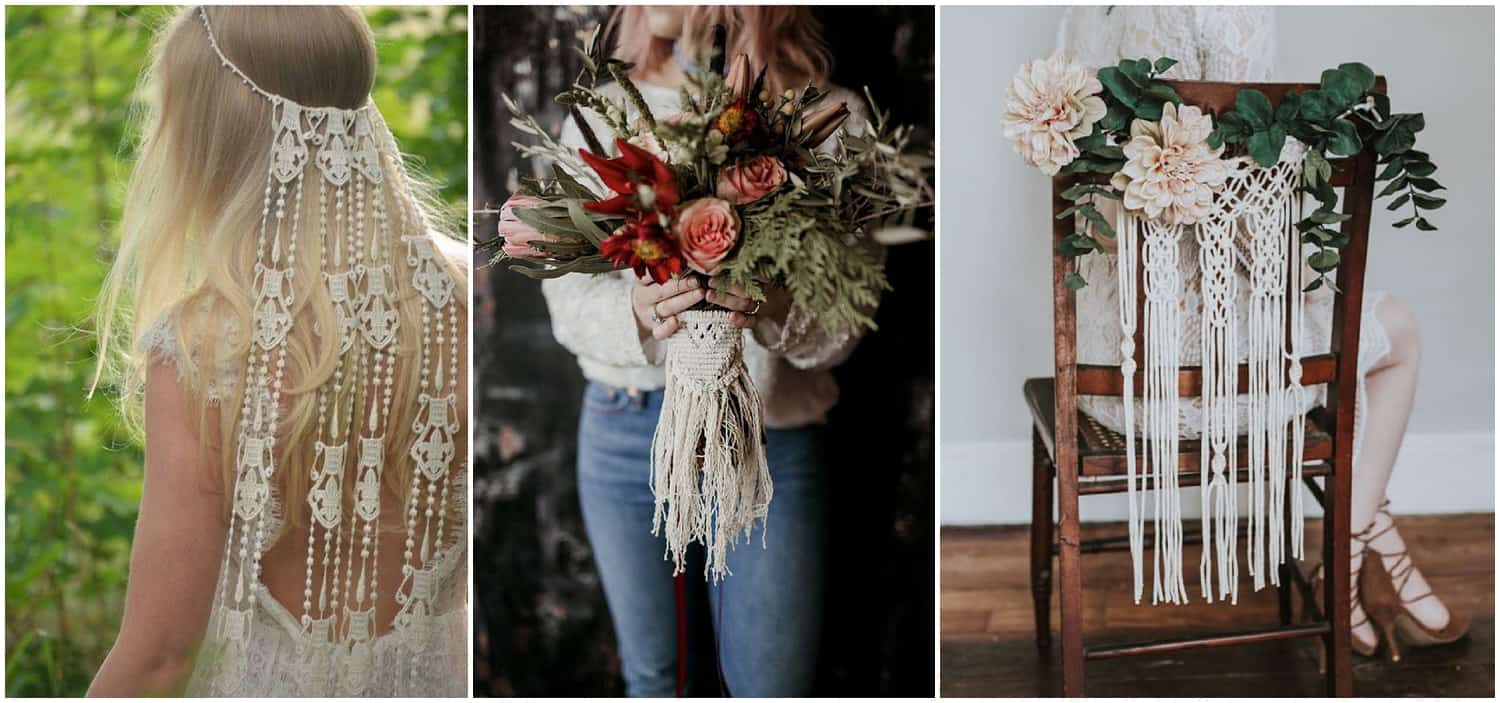 2018 wedding trends, boho inspiration, macramé, boho luxe, wedding inspiration, barn weddings, Devon weddings