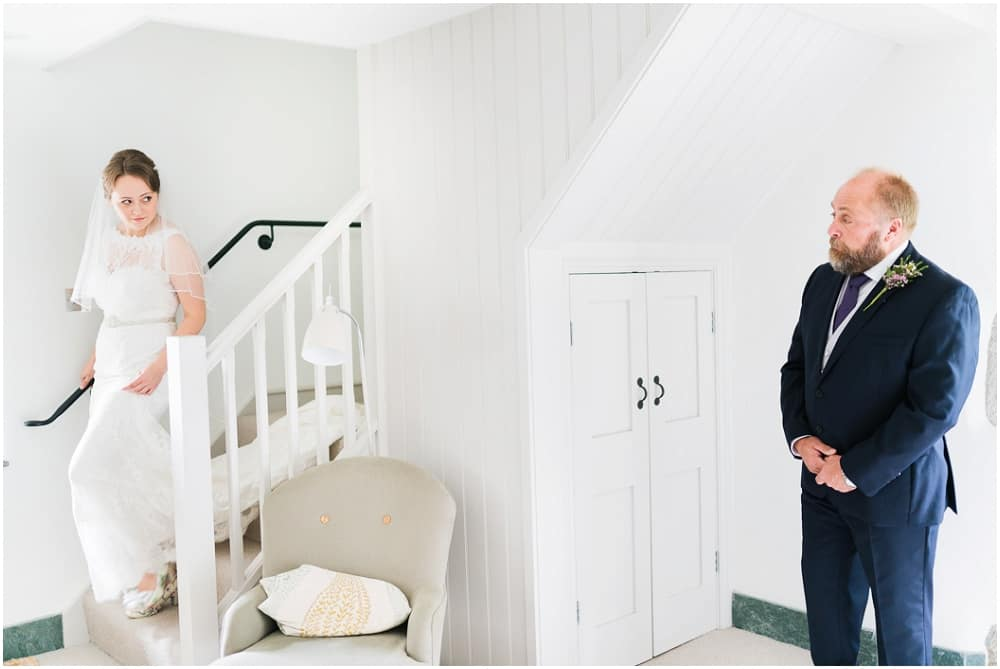 Great Barn Devon wedding of Harriet & Matt. Images by Will Stedman
