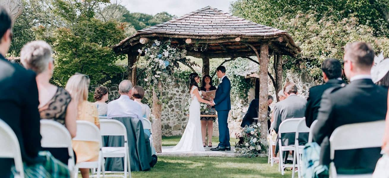 Beautiful Wedding Arbour at the Great Barn Devon