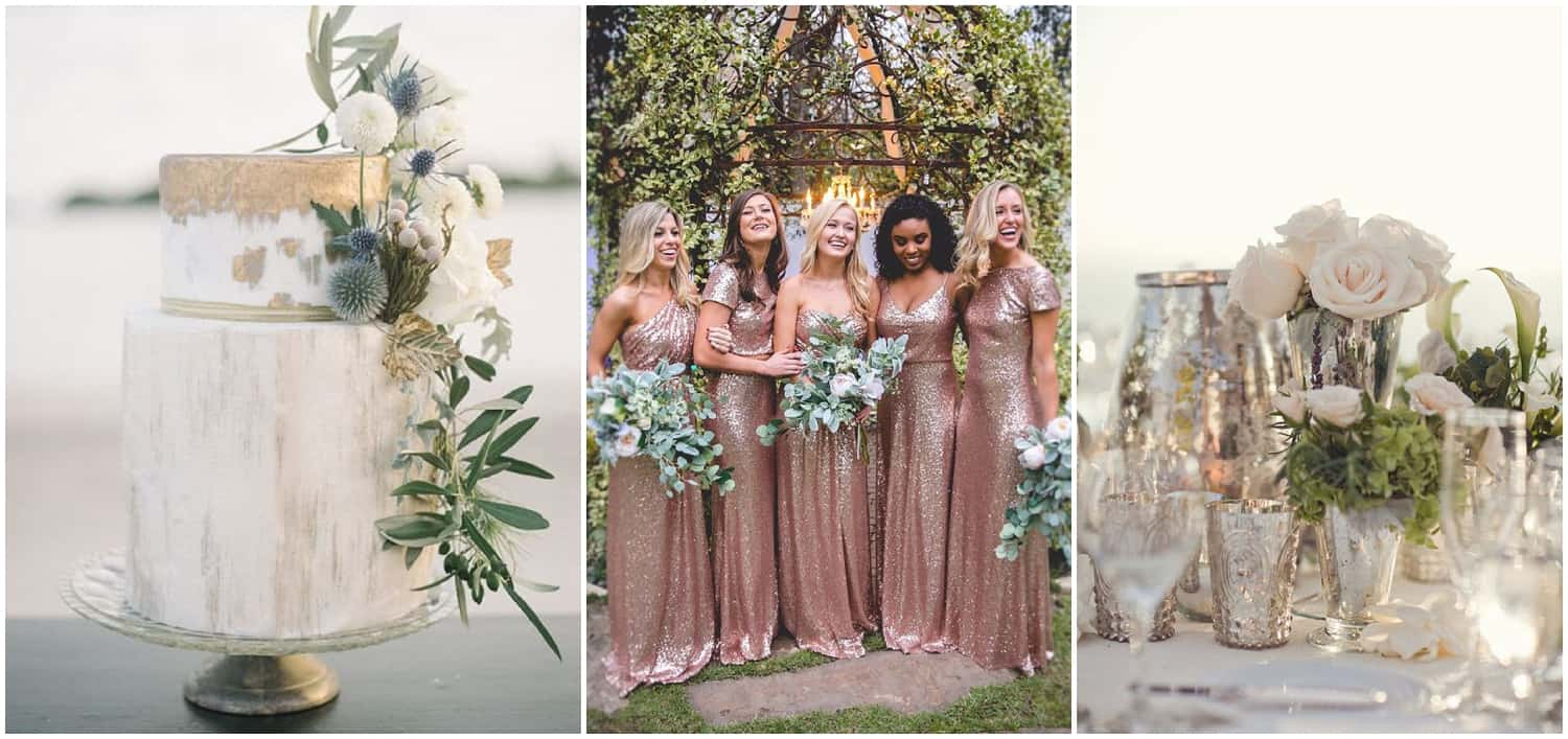 Metallic Neutrals Wedding Inspiration