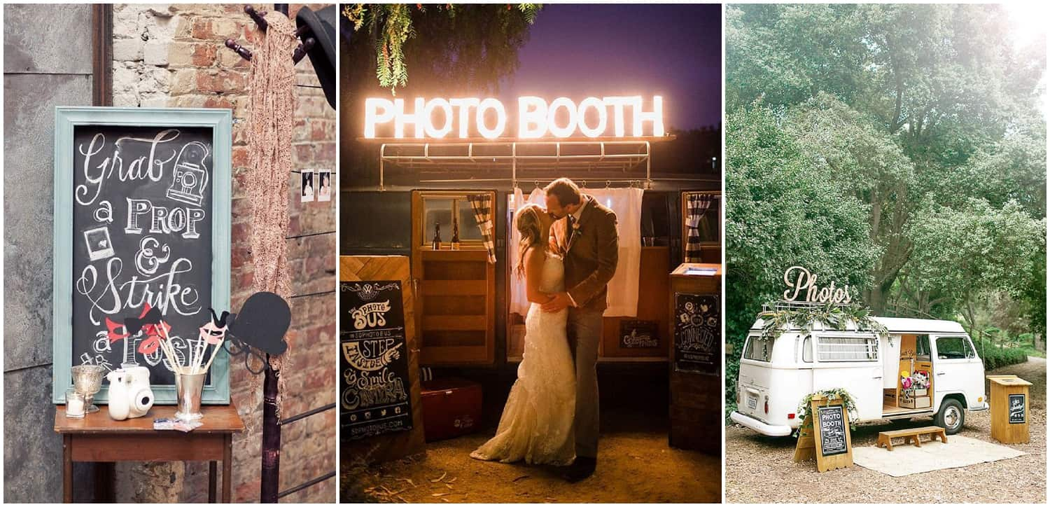 Wedding Photobooths and Backdrops