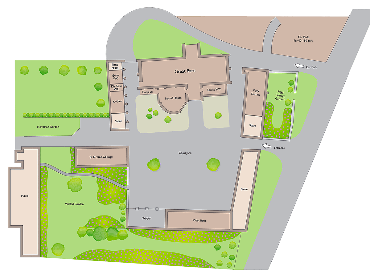 Great Barn Devon Site Plan